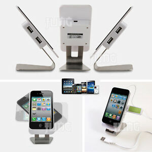 Universal-Smart-Mobile-Cell-Phone-DeskTop-Stand-Cradle-Holder-with-4port-USB-Hub