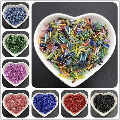 400pcs/Lot 6mm Czech Cylindrical Glass Tube Bugle Beads For Jewelry Making Glass Bugle Beads