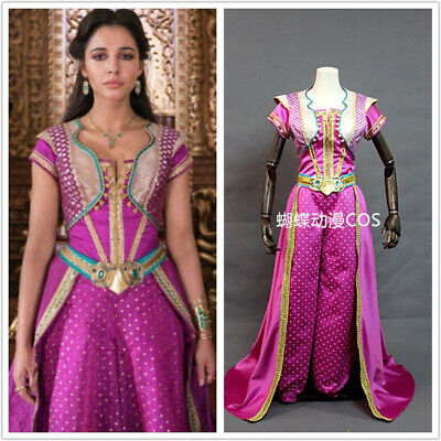 Princess Jasmine Red Halloween Costume (Adult Princess Jasmine red dress Cosplay Costume Cosplay Movie Aladdin)