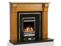 fireplace - Solid wooden Dublin Corbel, Oak