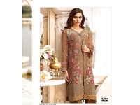 New Asian indian Pakistani semi stitched dress salwar kameez duppata party wear suit