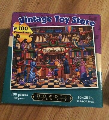 100 Piece Toy - Dowdle 100 Piece Puzzle Called Vintage Toy Store