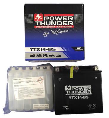 Batería YTX14-BS 12V 12Ah   Power Thunder   BTX14-BS   FTX14-BS  ...