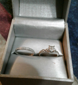 10k Wedding ring and band from people's