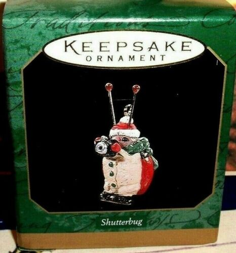Shutterbug`1997`Miniature-Ladybug Taking Holiday Pictures,Hallmark Ornament->New