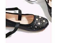 Brand new Topshop women flat pump shoes