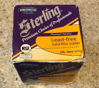 Lenox Sterling Solid Wire Solder Premium Lead Free 1lb Ws15086 331755