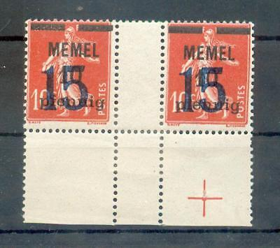 MEMEL 34ZW ZWISCHENSTEGPAAR POSTFRISCH R9715