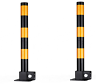 2 x Steel Removable Folding Security Parking Driveway Vehicle Post Bollards