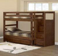 CRATE DESIGNS BUNK BEDS ANY SIZE, LOWEST PRICE AROUND AND NO HST