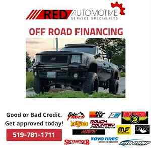 Off Road Financing! Tires, Accesorie LiftKits, Exhaust system...