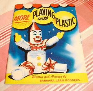 Livre vintage More playing with plastic promo Javex