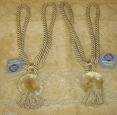 (SET OF 2 ROPE CORD CURTAIN TIE BACKS WITH TASSEL )