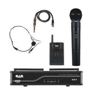 CAD Audio VHF Wireless Combo Handheld and Bodypack Mic System