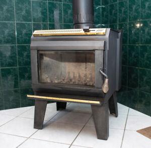 Poêle à bois et cheminée