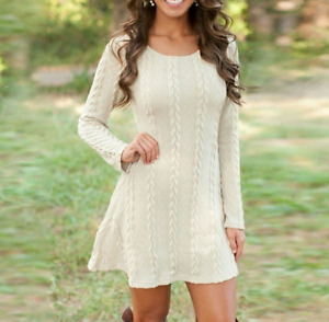Womens Winter Long Sleeve Jumper Top Knitted Sweater