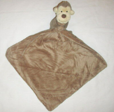 Little Jellycat Bashful Monkey Brown Tan Security Blanket Lovey NWOT