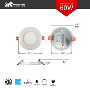 SALE!!!! 4'' ECO Slim panel/pot light 9W=50W cUL• IC Rated