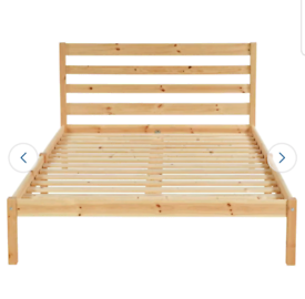 Brand new pine double bed frame