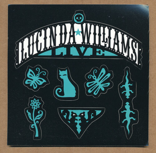 Lucinda Williams Live at The Fillmore ULTRA RARE promo sticker sheet