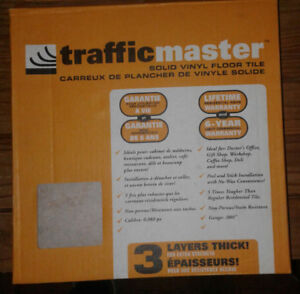 TrafficMaster FULL box of 30 Beige Slate vinyl floor tiles