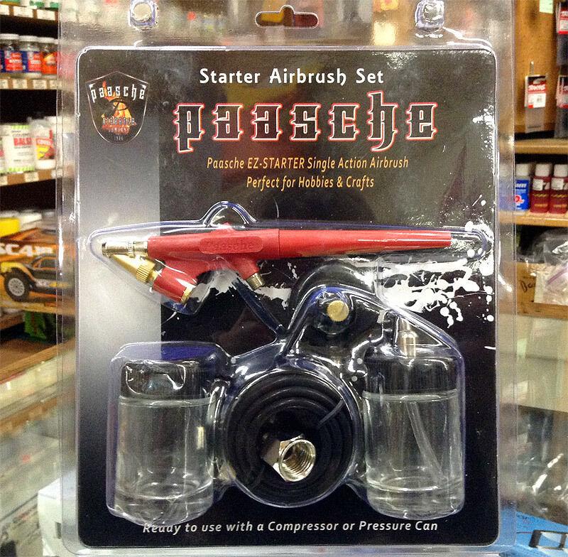 Paasche EZ-STARTER Single Action Airbrush Kit / Set for Beginners