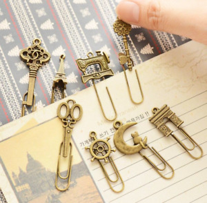 Metal Bookmark Vintage Book Marker Clip Stationery Office Access