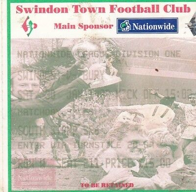 Ticket - Swindon Town v Bury 30.01.99