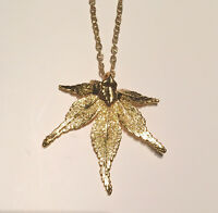 Gold Plated Japanese Maple Leaf Necklace