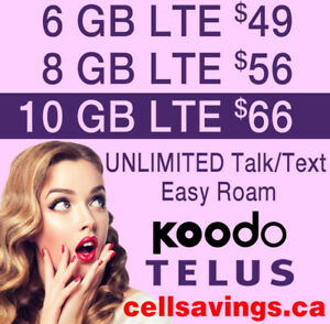 Save THOUSANDS $$$ - LTE Data - Cellsavings.ca Plans by John