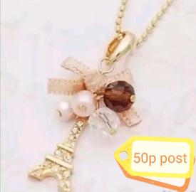Jewellery Accessory Necklace Chain Women's Gold Paris Eiffel Tower