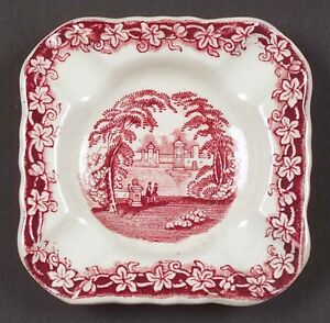 Mason's Vista  Ashtrays  England Red Pink Transferware
