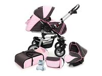 Brand NEW All-in-One Pram Pushchair Stroller Buggy Travel System Car Seat & accessories included