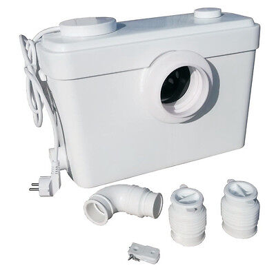SANIBO 5 Macerator Toilet WC PUMP 5way Sanitary Waste Removal LIFTING STATION