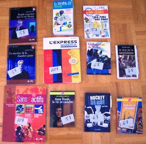 Livres et manuels en français - secondaire