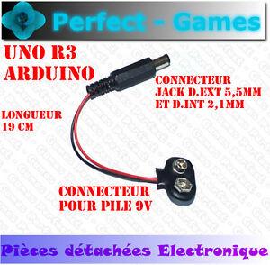 C ble connecteur adaptateur alimentation pile battery 9v - Connecteur pile 9v ...