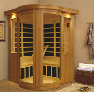 3 - 4 person corner Infrared Sauna - AcuRelax® - Stock Clearance