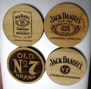 Jack Daniels Wooden Carved Coaster
