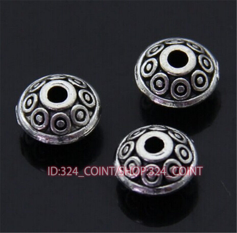 P402 8pc Tibetan Silver Charm frog Spacer Beads accessories wholesale