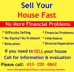 Sell your Ottawa House FAST