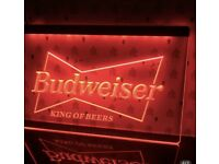 Budweiser King Beer Bar Pub Club Ad Light Sign