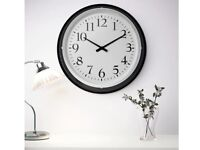 * EXCELLENT CONDITION* IKEA BRAVUR WALL CLOCK BLACK & WHITE