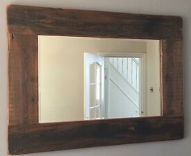 Beautiful wooden framed mirror