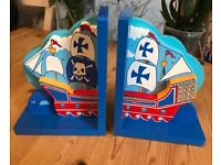 Pirate Ship Bookends