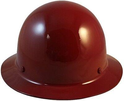 Msa Maroon Skull Gard Fiberglass Fb Hard Hat Ratchet Or Pin Lock Suspension