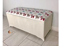 Beautiful Ottoman with scotty dog fabric