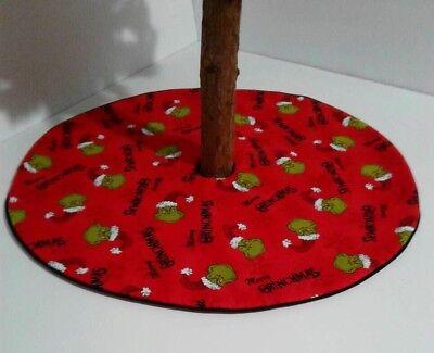 "Christmas Tree Skirt - 20""- Reversible Grinch Santa Dr. Seuss Face - Custom Made ()"