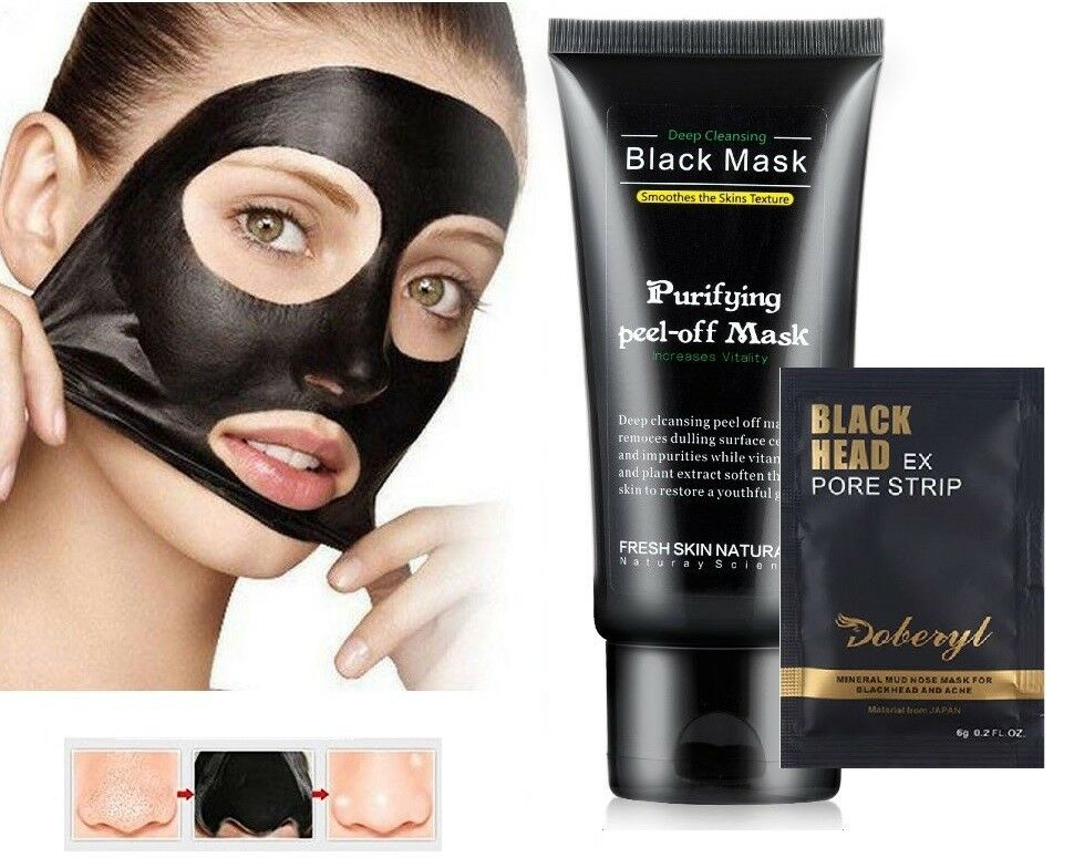 Purifying Deep Cleansing Peel-Off Black Mask | Doberyl Mineral Mud Pore Mask Health & Beauty