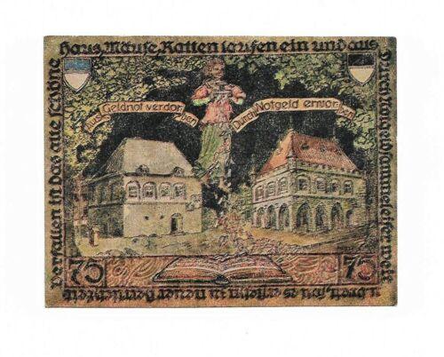 **1921 ERKELENZ Germany- RAINING MONEY ~ RARE German UNC Notgeld Banknote