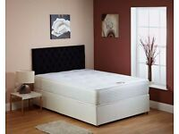 "HIGH QUALITY--"" 4FT6 Double / 4FT Small Double Divan Bed With 10"" Ambassador Orthopaedic Mattress"